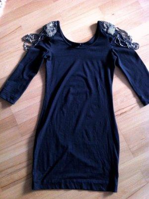 Figurbetontes Kleid mit Schulterschmuck in S