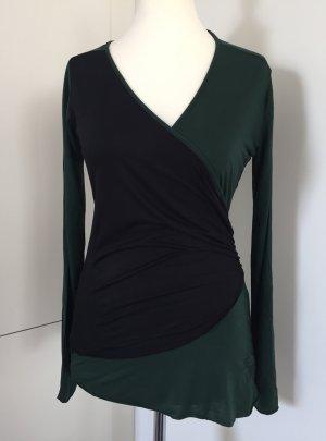 Figurbetontes Langarm-Shirt in Grün/Schwarz von Replay, Größe M (36 - 38)