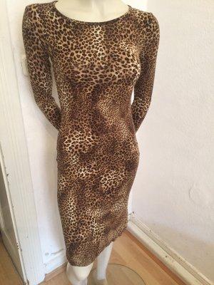 Figurbetontes Leoparden Kleid aus Italien Gr.36