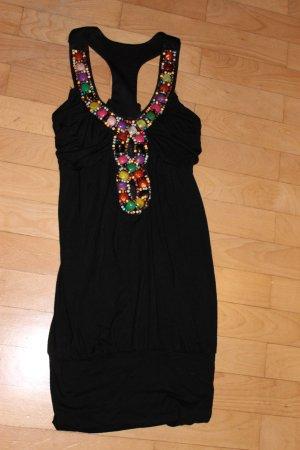 Figurbetontes schwarzes Kleid