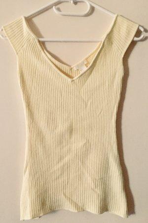 H&M V-hals shirt sleutelbloem-lichtgeel