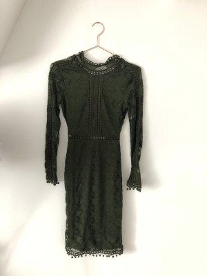 Rare london Kanten jurk donkergroen