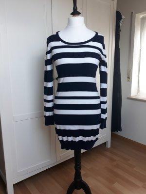 b.p.c. Bonprix Collection Knitted Dress white-dark blue