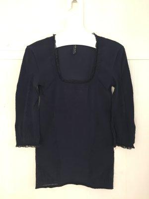 High Moda azul oscuro tejido mezclado