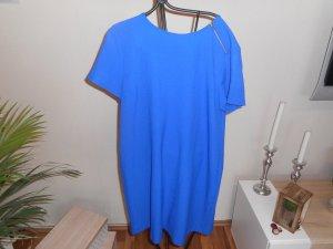 Zara Robe à manches courtes bleu polyester
