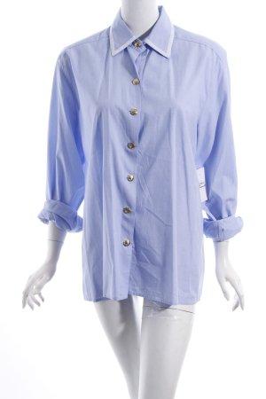 fil à fil Long-Bluse hellblau-weiß Elegant