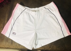 Fila Short de sport blanc-or rose