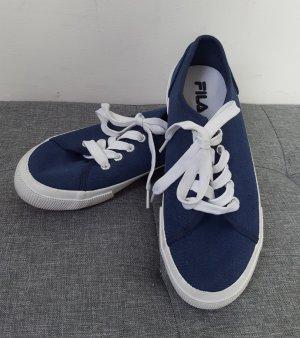 Fila Damen Stoffschuhe Sneaker Sommerschuhe Textil blau weiß Größe 37