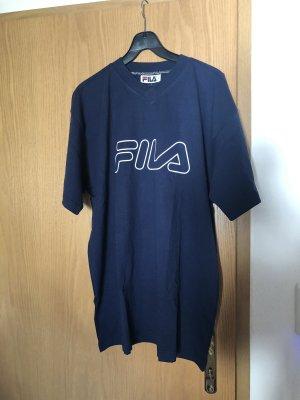 Fila dunkelblaues Oldschool T-Shirt Gr. L