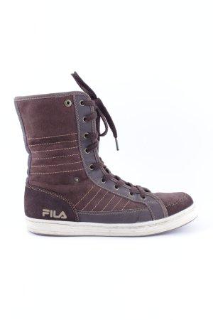 Fila High Top Sneaker braun-schwarz Casual-Look