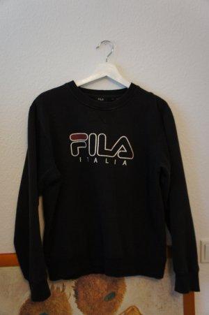 fila italia sweater pullover schwarz aufdruck print M L unisex sport