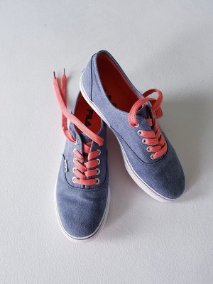 Fila Memory Schaum Sneaker - Denim Hellblau Weiss Lachs