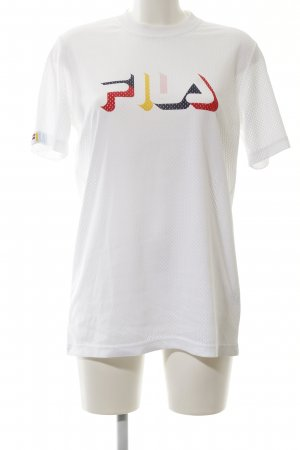 Fila Mesh Shirt white printed lettering casual look