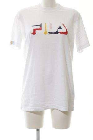 Fila Netshirt wit gedrukte letters casual uitstraling