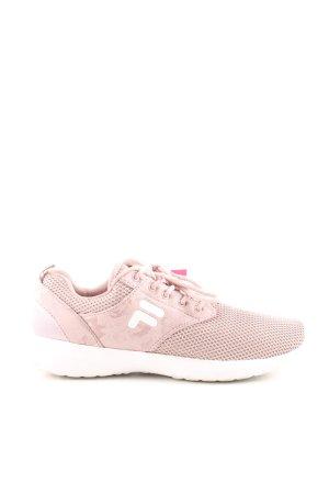 Fila Sneakers met veters roze wit simpele stijl