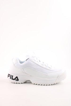 Fila Schnürsneaker weiß-schwarz extravaganter Stil