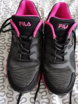 Fila Sneakers met veters zwart-roze