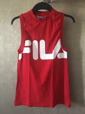 FILA Shirt Tanktop Top rot weiß Gr. XS Sport Fitness