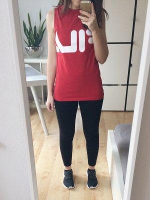 FILA Shirt Tanktop Top rot weiß Gr. XS Sport Fitness Blogger