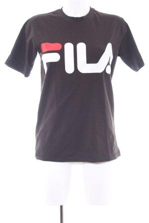 Fila T-Shirt Schriftzug gedruckt Casual-Look