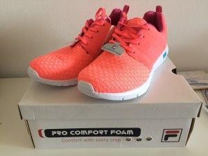 Fila Turnschuhe Sneaker 41 neon orange lachs koralle neu mit Karton