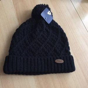 Fila Chapeau en tricot noir