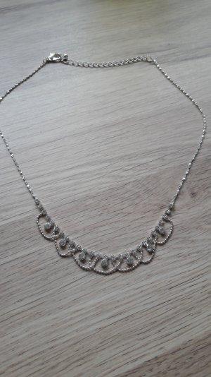 Filigrane Halskette Modeschmuck Collier Brautschmuck
