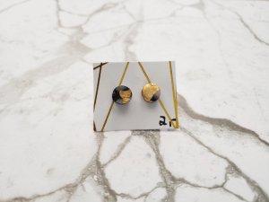 filigrane marmorisierte Ohrringe / Ohrstecker mit Blattgold