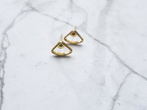filigrane minimalistische  goldene Ohrringe
