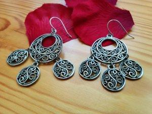 Filigrane Ohrhänger aus Spanien Andalusien Silber Antik Flamenco Zigeuner