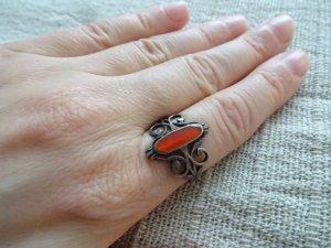 Zilveren ring rood Zilver