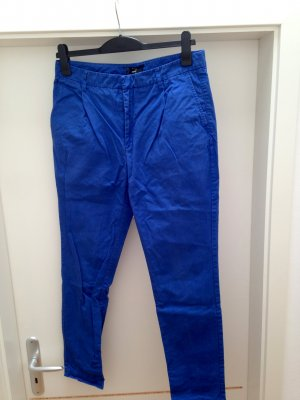 Filippa K Pantalon à pinces bleu coton
