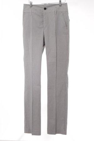 Filippa K Pantalon de costume blanc-bleu foncé motif rayé élégant