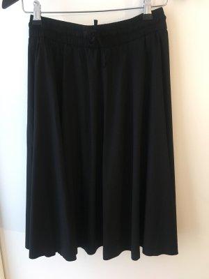 Filippa K Jupe à plis noir viscose