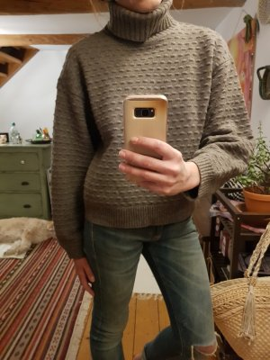 Filippa K Wollen trui grijs-bruin-lichtbruin