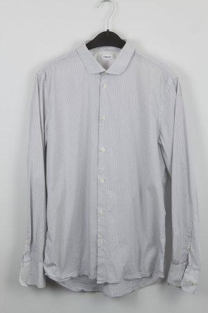 Filippa K Shirt met lange mouwen wit-staalblauw Katoen