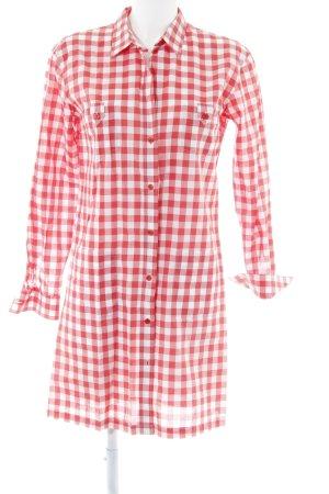 Filippa K Hemdblusenkleid rot-weiß Karomuster Casual-Look