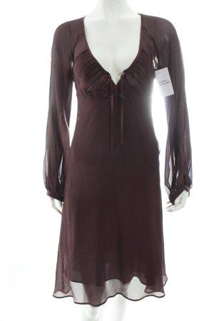 Filippa K Langarmkleid dunkelviolett klassischer Stil