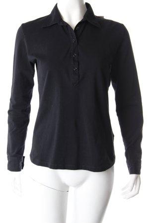 Filippa K Poloshirt schwarz langärmelig