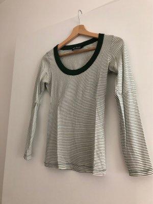 Filippa K Gestreept shirt wit-bos Groen