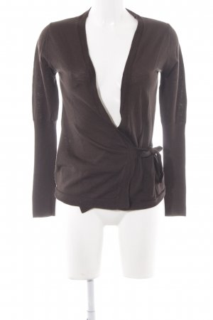 Filippa K Strick Cardigan dunkelbraun Casual-Look