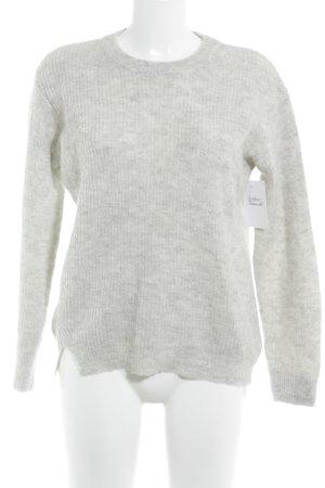 Filippa K Gebreide trui lichtgrijs-grijs gestippeld casual uitstraling