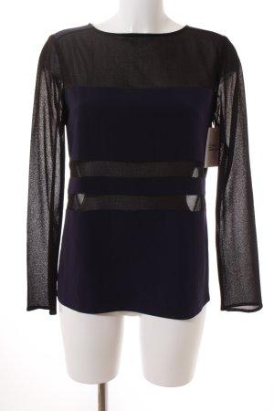Filippa K Transparenz-Bluse schwarz-dunkelblau Elegant