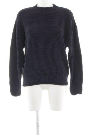 Filippa K Maglione di lana nero punto treccia stile semplice