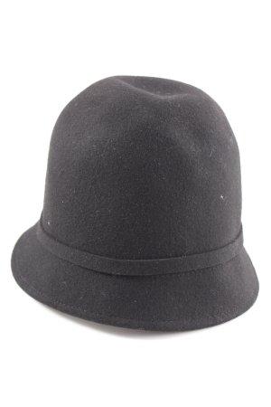 Filippo Catarzi Wollen hoed zwart zakelijke stijl