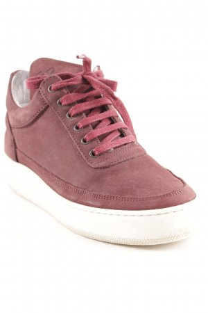 "Filling Pieces Schnürsneaker ""Cleo Burgundy"" bordeauxrot"