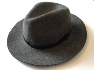 Mango Vilten hoed grijs-donkergrijs Wol