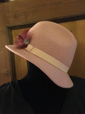 Filzhut rosa, neu und ungetragen