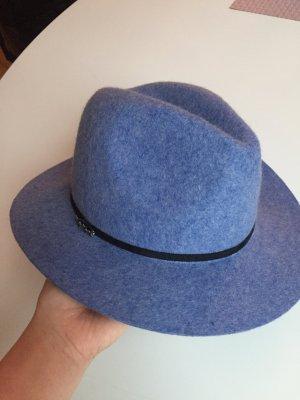 Maison Scotch Felt Hat cornflower blue-black