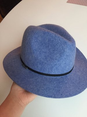 Maison Scotch Vilten hoed korenblauw-zwart